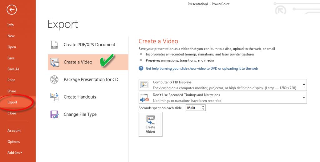 แปลงสไลด์ PowerPoint 2013 ให้เป็นรูปภาพหรือวีดีโอ