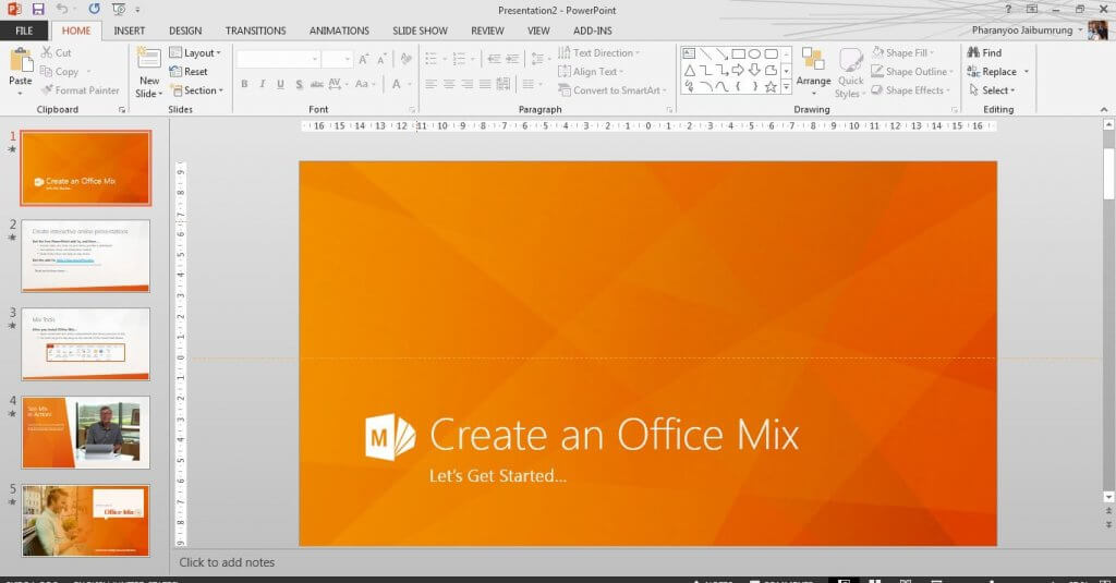 สร้าง PowerPoint อย่างง่ายภายใน 3 นาที