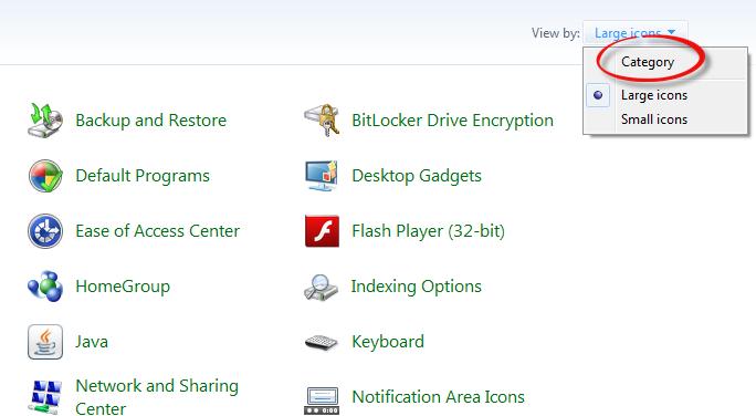 ลบโปรแกรมออกจากเครื่องคอมพิวเตอร์ (Uninstall) บน Windows 7