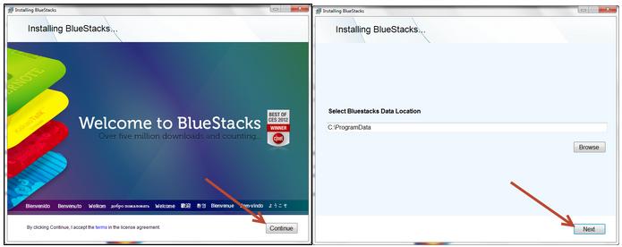 วิธีการติดตั้ง Bluestack app player บนคอมพิวเตอร์