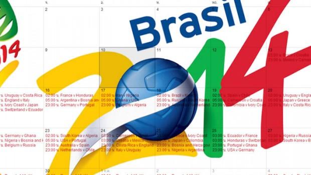 ดูตารางการแข่งขันฟุตบอลโลก 2014 ด้วย Google Calendar
