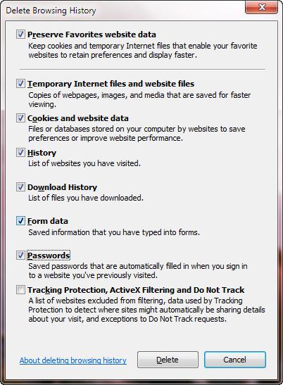 วิธีลบประวัติการเข้าเว็บใน Google Chrome, Firefox, Internet explorer