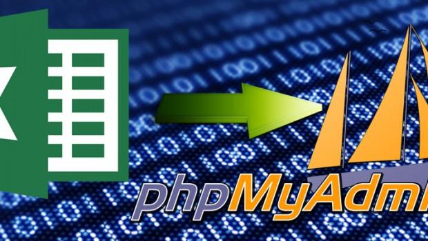วิธีนำข้อมูลใน Excel เพิ่มลงใน phpMyAdmin