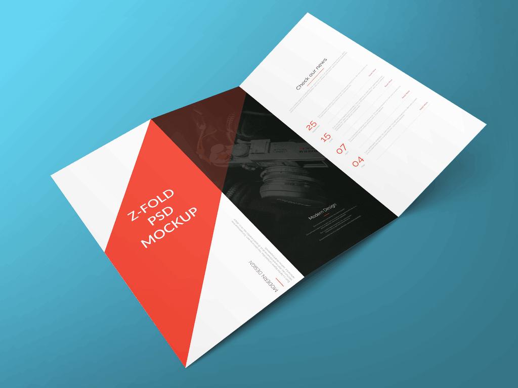z fold brochure template word - powerpoint officemanner