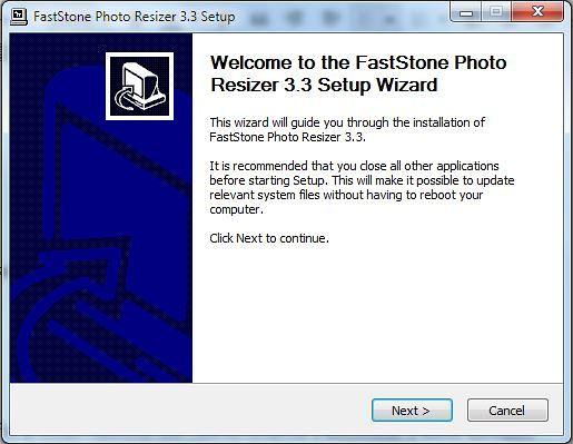 วิธีใส่ลายน้ำบนรูปภาพด้วย FastStone Photo Resizer