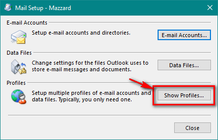 วิธีลบ E-mail account ใน Outlook